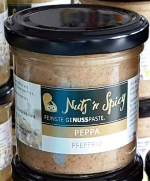 """LOGO_""""Peppa""""; GeNUSSpaste in pfeffriger Geschmacksausrichtung"""