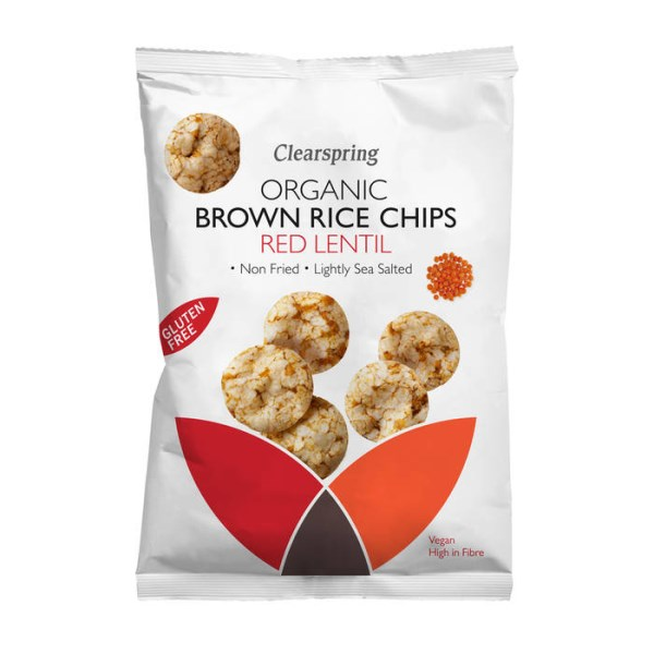 LOGO_Organic Brown Rice Chips Red Lentil 60g