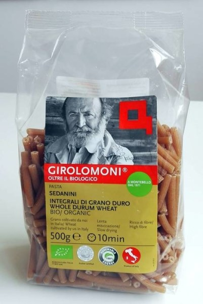 LOGO_GIROLOMONI Organic whole durum wheat semolina Sedanini