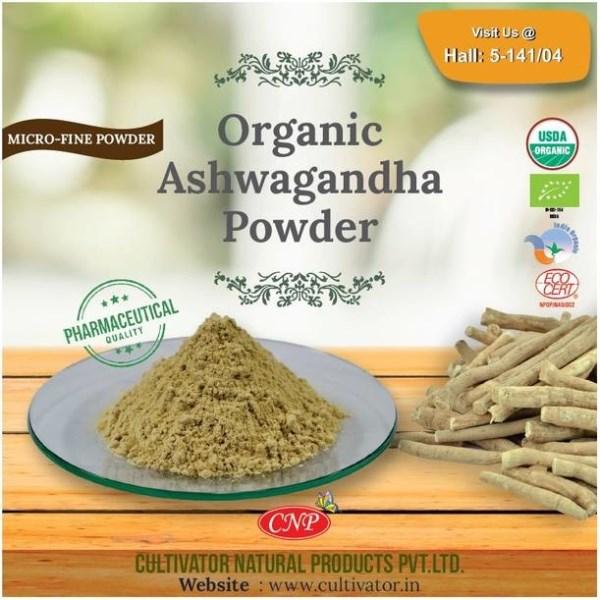 """LOGO_""""ORGANISCHES ASHWAGANDHA PULVER 100% Certified Organic Kräuter & Botanicals Pulver Pharmazeutische Qualität"""""""