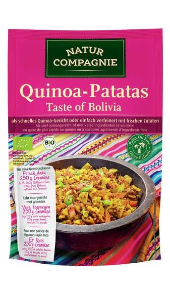 LOGO_NATUR COMPAGNIE QUINOA-PATATAS * TASTE OF BOLIVIA *