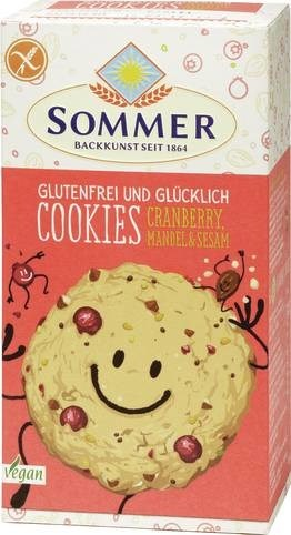 LOGO_GLUTEN FREE AND HAPPY   Cookie Cranberry, Almond & Sesame