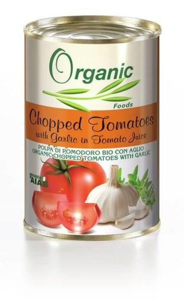 LOGO_Organic Chopped tomatoes with Garlic and Oregano