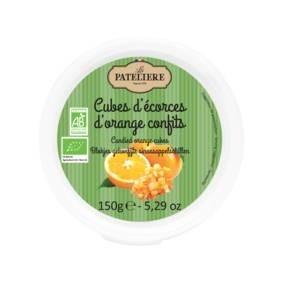 LOGO_Organic candied orange cubes 150g