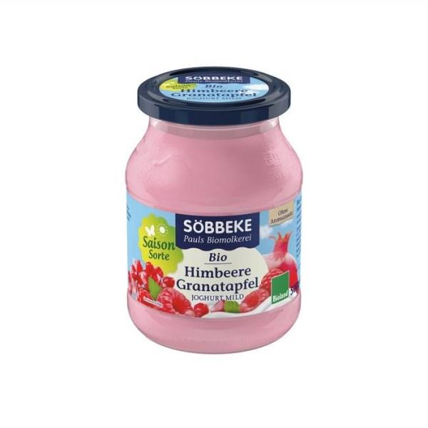 LOGO_Söbbeke Fruchtjoghurt Himbeere-Granatapfel 3,8 % 500g Glas