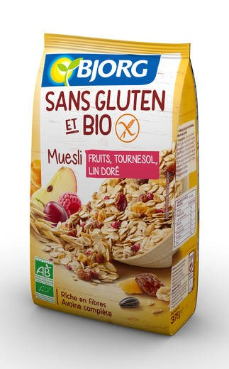 LOGO_Fruchtmüsli mit Sonnenblumenkernen & gelbem Leinsamen, biologisch & glutenfrei