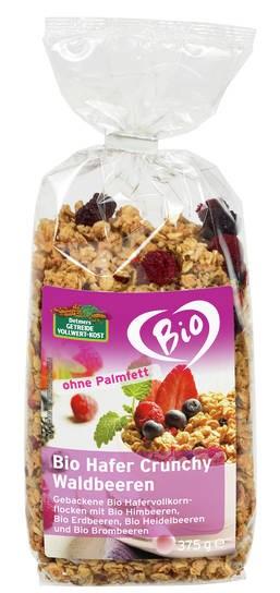 LOGO_Bio Hafer Crunchy Waldbeeren 375 g Ohne Palmfett