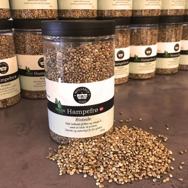 LOGO_Roasted hempseed, 225 g bucket