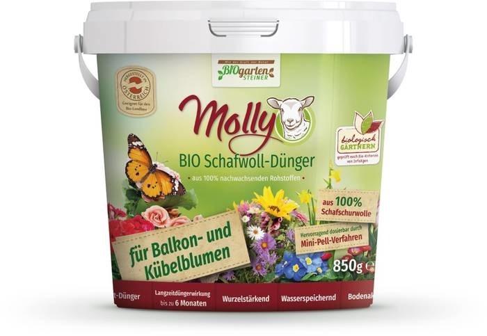 LOGO_Bio Schafwolldünger, für Balkon- und Kübelblumen 850g