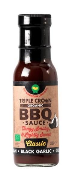 LOGO_Triple Crown Bio, Veganz & Glutenfrei BBQ sauce - SCHWARZE KNOBLAUCH