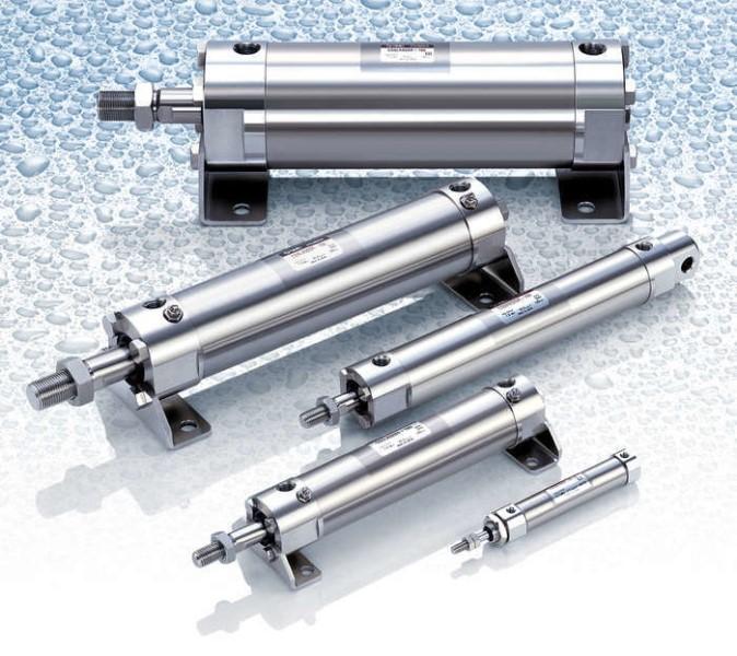 LOGO_Serie CG5/CJ5: Rostfreie Zylinder für den Einsatz im Nassbereich
