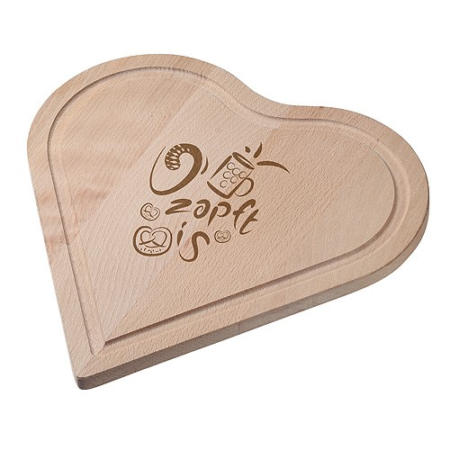 "LOGO_Cutting board ""Woody"" heart"