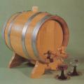 LOGO_Rundes Weinfass aus Eichenholz 20 l mit verzinkten Reifen