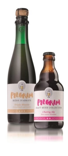 "LOGO_0.75 liter and 0.33 liter Beer bottle for ""Pilgrim"""
