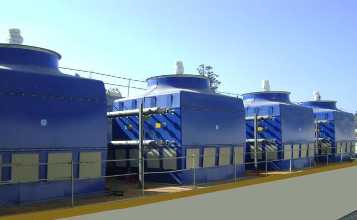LOGO_EWK-C, Kühlturm für geschlossenen Kühlkreislauf mit internem Rohrbündel-Wärmetauscher und Axial-Ventilator