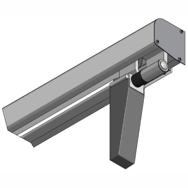 LOGO_ALU125 Schienensystem Türblattbreite xxxx-xxxx mm | Handbedienung - obere Aufhängung