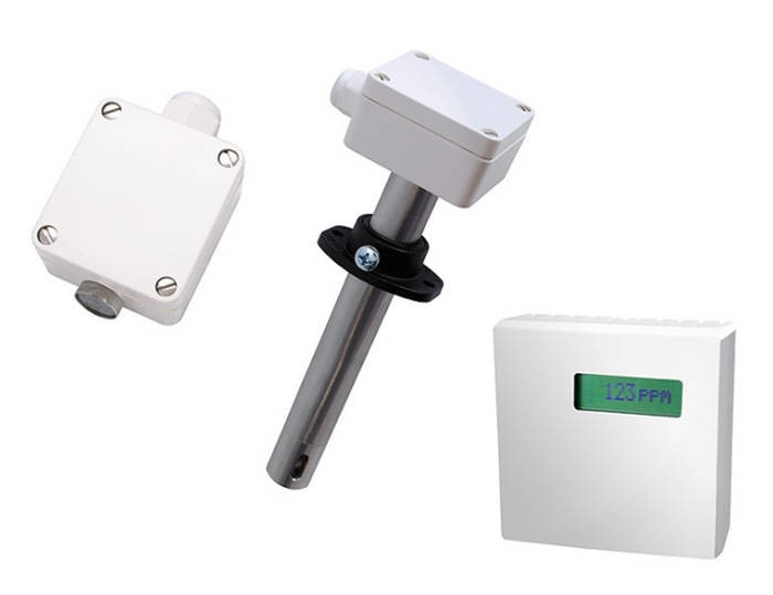 LOGO_CO and Temperature Sensor with Measuring Range Changeover