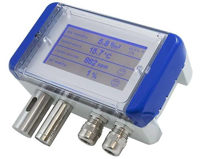 LOGO_Multifunktionaler Luftqualitätsfühler für CO2, Mischgas VOC, Feuchte und Temperatur mit Messbereichsumschaltung