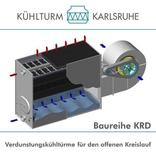 LOGO_KRD Series - Evaporative cooling tower for open circuit with radial fan located on the side