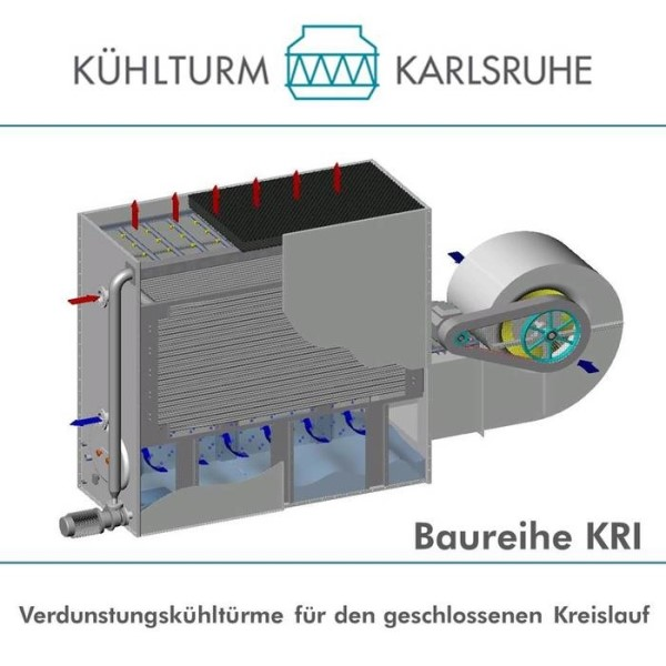 LOGO_KRI Series - Evaporative cooling tower for closed circuit with radial fan located on the side