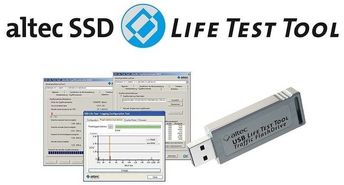 LOGO_altec SSD Life Test Tool und USB L.T.T. Traffic FlashDrive