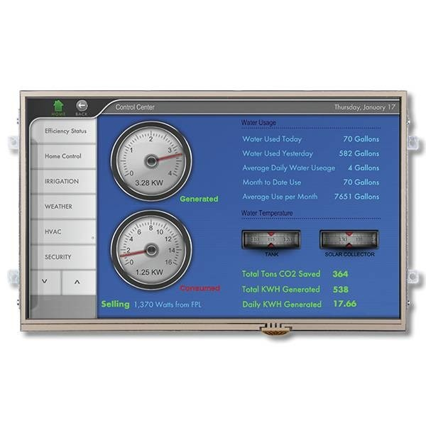 """LOGO_Our Largest: Widescreen 10.2"""" iLCD Panel with 1024x600 Pixel und Resistive or Capacitive (PCAP) Touch Screen"""