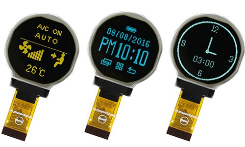 "LOGO_1.18"" Circular OLED display"