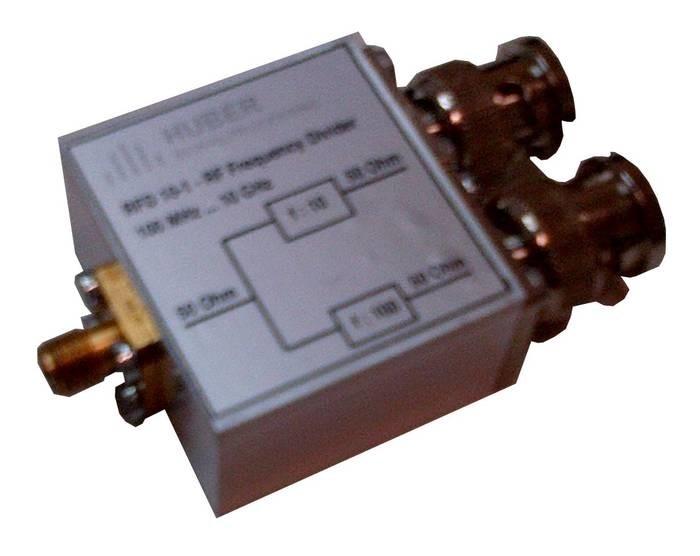 LOGO_RFD 10-1 - RF Frequency Divider - f:10 und 1:100 - DC ... 3GHz