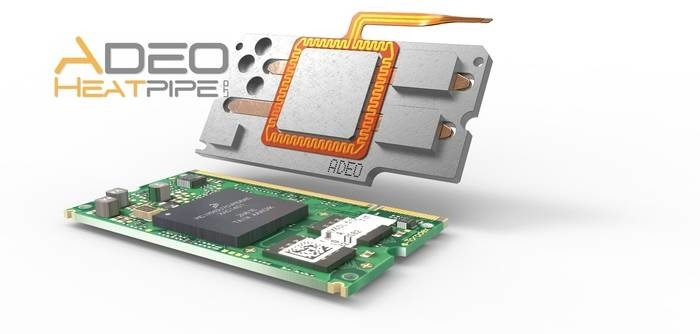 LOGO_ARM / Freescale / NXP heat pipe heat sink with heaterfoi