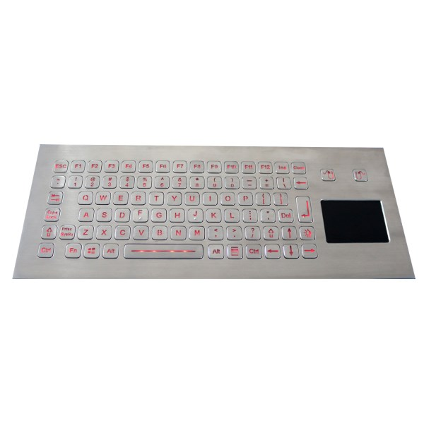 LOGO_IP67 backlit stainless steel keyboard with sealed touchpad