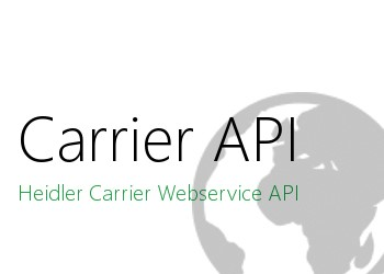 LOGO_Web service interface - Heidler Carrier API