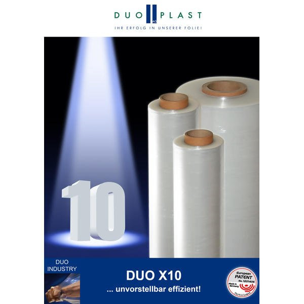 LOGO_DUO X10 - the extruded 10 micron stretch film