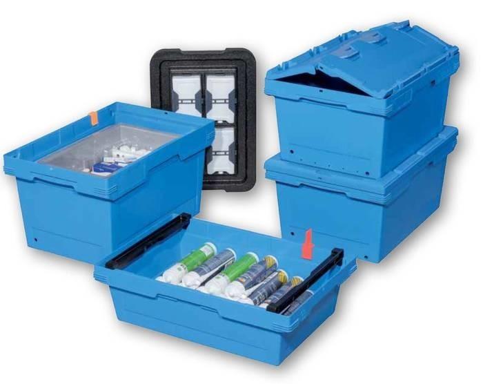 LOGO_F400: Nestbare Versand-, Lager- und Kommissionierbehälter, 600 x 400 mm