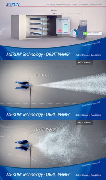 LOGO_High pressure duct humidification ORBIT WING® (patented)