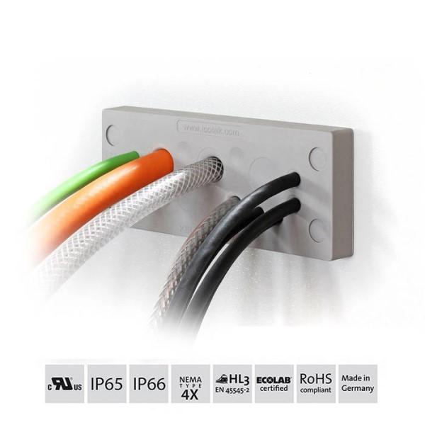 LOGO_Robuste Kabeldurchführung mit hygienischem Design