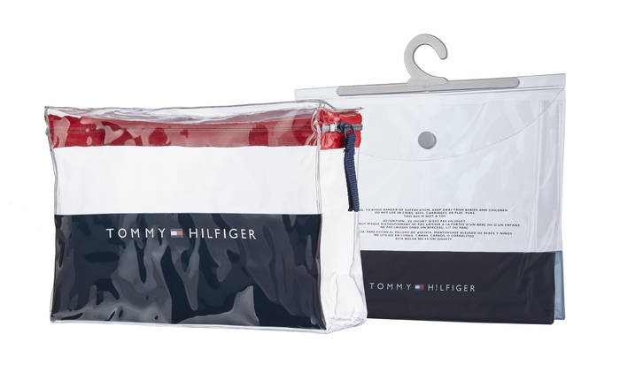 LOGO_Tommy Hilfiger zipper pouch and hanger bag