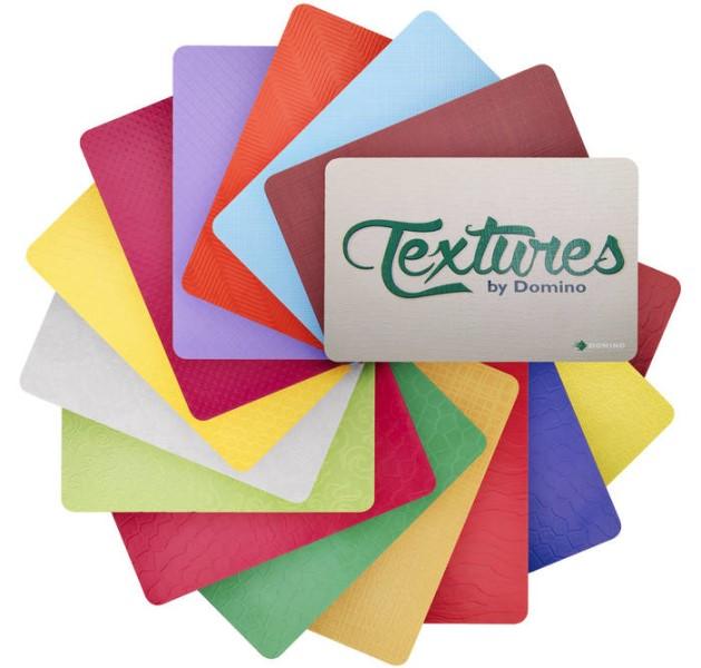 """LOGO_""""Textures by Domino"""" - auffällige Effekte für Highend-Etiketten und –Verpackungen"""