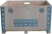 LOGO_Metallteile für flatbare Kisten aus Sperrholz, Paletten und Palettenaufsatz
