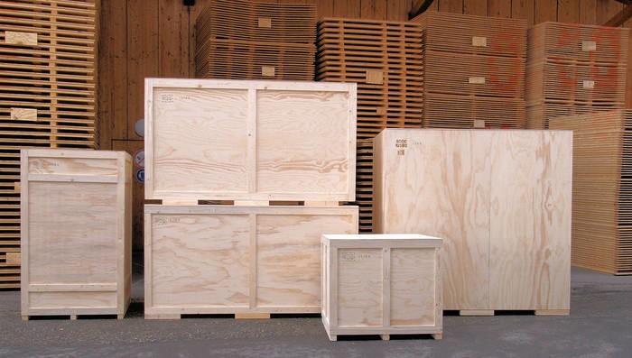 LOGO_Standardkisten und Sperrholzcontainer / Überseeverpackung