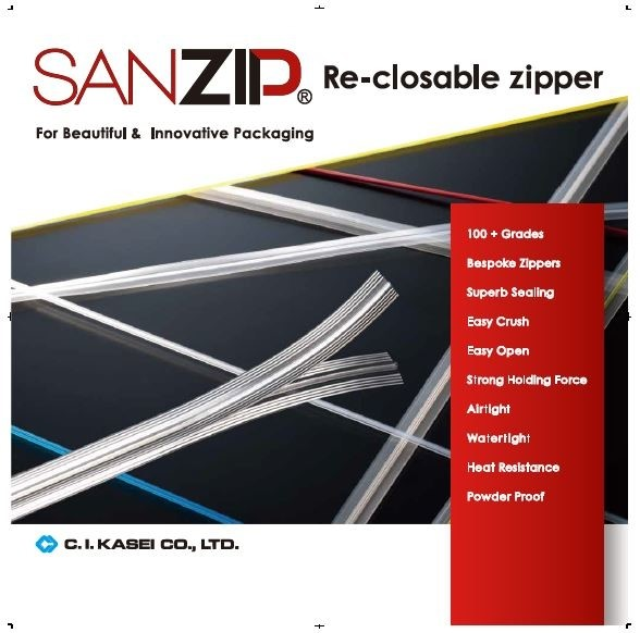 LOGO_SANZIP® Re-closable Zipper