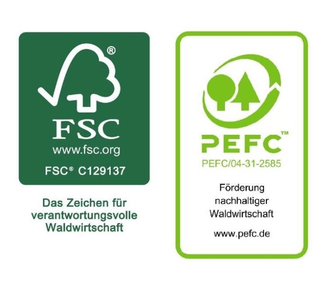 LOGO_FSC® - oder PEFC™ -zertifizierte Verpackungspapierprodukte