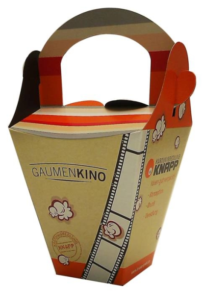 LOGO_Faltschachtel für frisches Popcorn