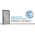 """LOGO_Ausgezeichnet! Exklusive Haustürfüllungen Art-Beton """"Produkt des Jahres 2014"""""""