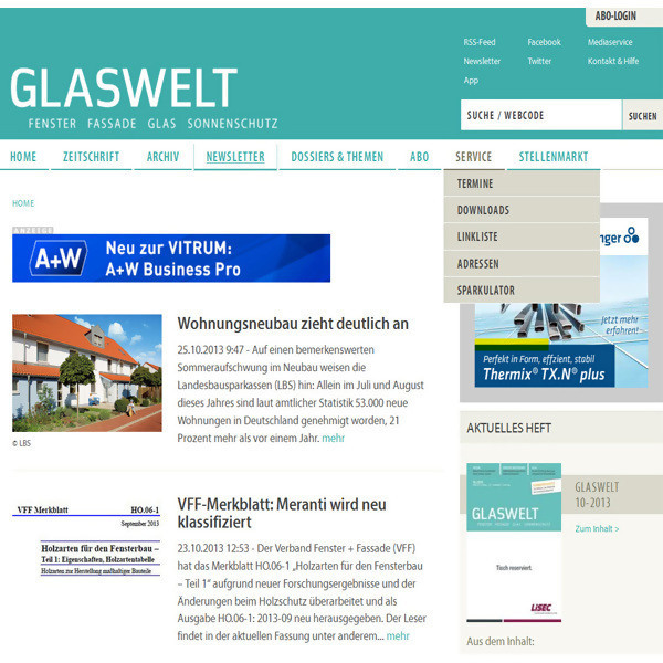 LOGO_GLASWELT-Portal www.glaswelt.de