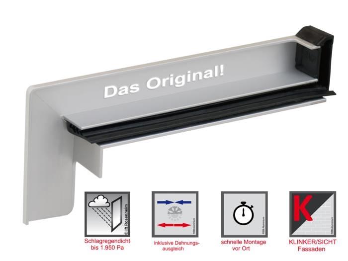 LOGO_RAG² K – Aluminium-Gleitendstück für Klinker-/Sichtfassaden