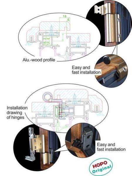 LOGO_ATT90----Patent tilt-turn fitting for Alu-wood profile