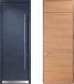 LOGO_Design-Haustüren mit unterschiedlichen Oberflächen innen und außen
