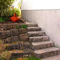 LOGO_Treppe aus Muschelkalk-Blockstufen mit angrenzender Trockenmauer