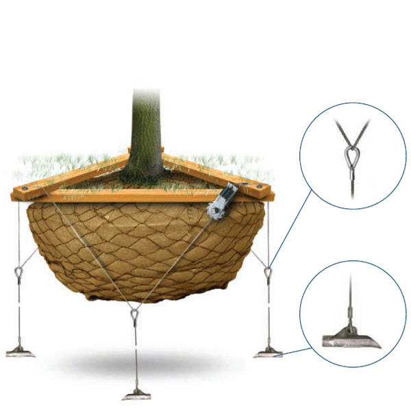 LOGO_Duckbill® Wurzelballenverankerungs-System mit Spannseil
