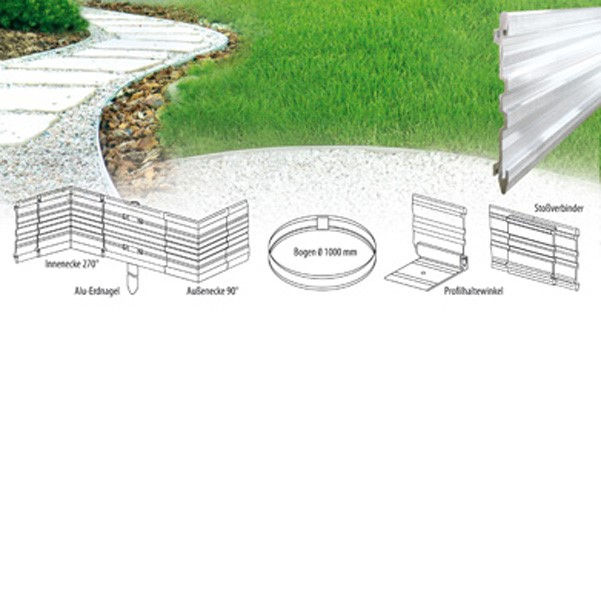 LOGO_Pathway and Flowerbed Edging Aluminium Profile Viaflex®